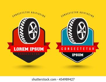car wheel service emblem