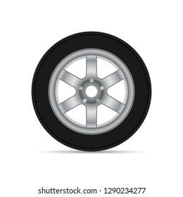 Car wheel with shadow