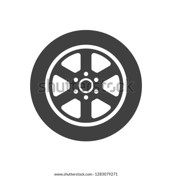 5269e3bce53785 Car Wheel Vector Icon Stock Vector (Royalty Free) 1283079271