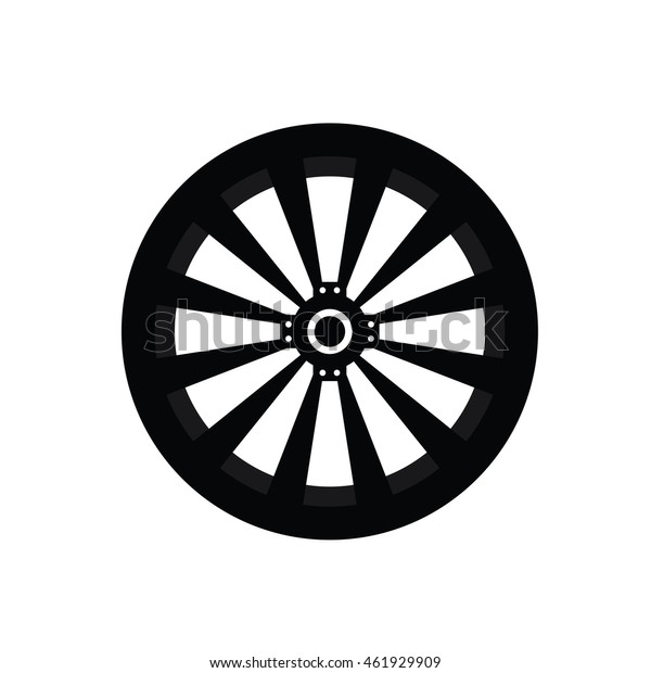 221a1c5bd5eea8 Car Wheel Vector Icon Stock Vector (Royalty Free) 461929909