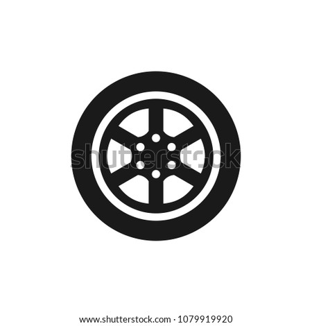 10979ad35e3050 Car wheel vector icon. Tire icon. Car wheel on white background for web  design