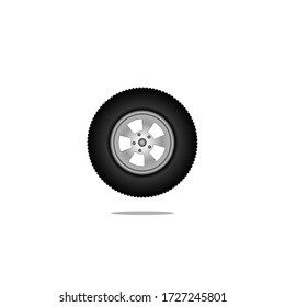 Car wheels. Realistic design. Vector illustration of a raster with a white background
