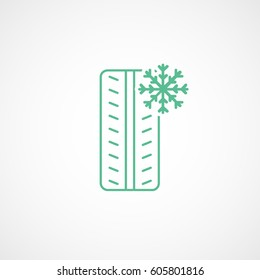 Car Winter Wheel Tire Green Line Icon On White Background