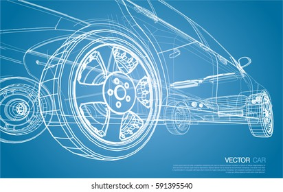 car wireframe