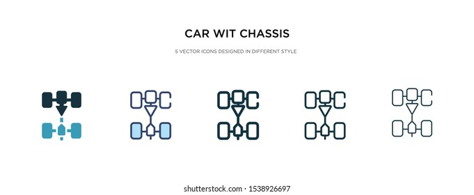 car wit chassis icon in different style vector illustration. two colored and black car wit chassis vector icons designed in filled, outline, line and stroke style can be used for web, mobile, ui