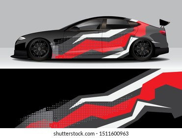 car wrap abstract modern vector design background. eps10