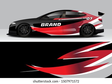 car wrap colorful modern line vector design background. eps10