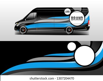 Car wrap company design vector. Graphic background designs for vehicle van livery