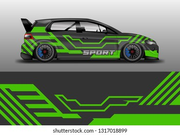 Car wrap decal company design vector. Graphic abstract background designs for vehicle, race car, rally, livery, sport eps 10