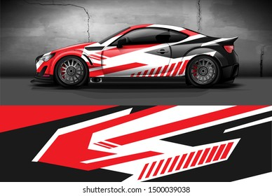 car wrap or decal design. Abstract racing stripe background for racing car or daily use. ready print vinyl sticker