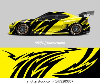Car wrap decal design concept. Abstract stripe background for wrap vehicles, race cars, cargo vans, pickup trucks and livery.