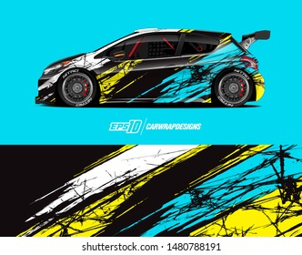 Car wrap decal design concept. Abstract grunge background for wrap vehicles, race cars, cargo vans, pickup trucks and livery.
