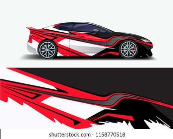 Car wrap design abstract strip and background for Car wrap and vinyl sticker