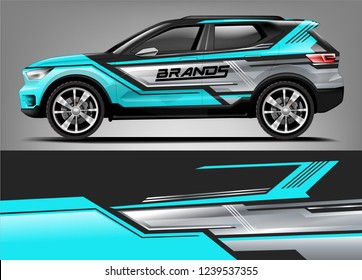 Car Wrap design for company, decal, wrap, and sticker. vector eps10