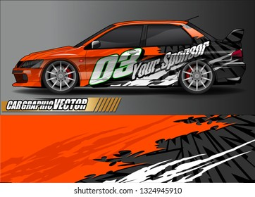 car wrap design. grunge tribal lines with abstract background vector concept for vehicle vinyl wrap and automotive decal livery