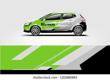 Car wrap design. Wrap, sticker and decal design for company. Vector format