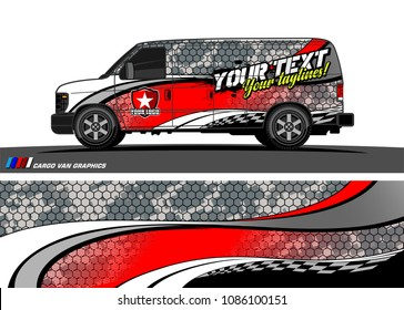 Car Wrap Design Vector Simple Curved Shape With Grunge Background