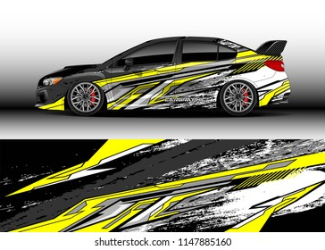 Car Wrap Design Vector Truck And Cargo Van Decal Graphic Abstract Stripe Racing Background