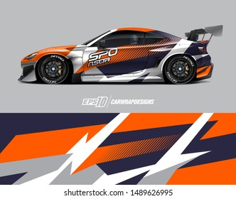 Car wrap graphic. Abstract stripe for wrapping universal vehicle, daily use or racing. Vector eps 10 format.