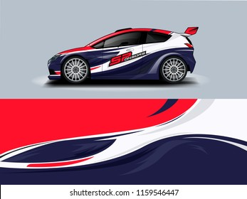 Car wrap graphic racing abstract strip and background for car wrap and vinyl sticker
