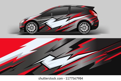 Car wrap graphic racing abstract red strip background for wrap and vinyl sticker