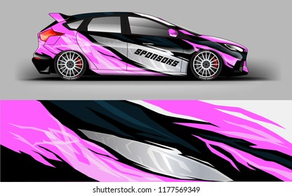 Car wrap graphic racing abstract strip background for wrap and vinyl sticker