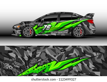 Car wrap graphic racing background for wrap and vinyl sticker