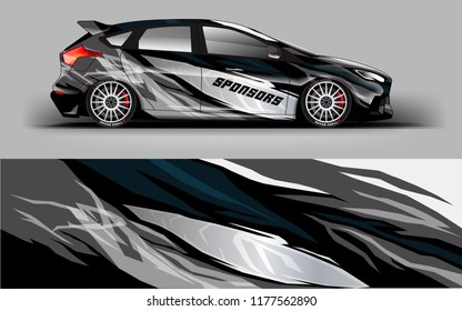 Car wrap graphic racing grey background for wrap and vinyl sticker