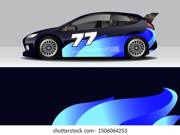 car wrap modern abstract vector design template. eps10