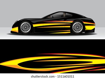 car wrap modern abstract vector design sticker background. eps10