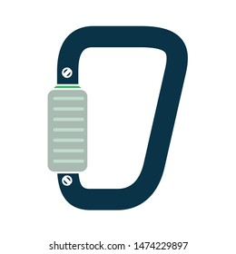 carabiner icon. flat illustration of carabiner vector icon. carabiner sign symbol