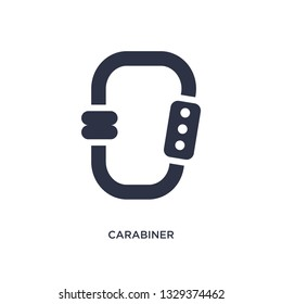 carabiner icon. Simple element illustration from camping concept. carabiner editable symbol design on white background. Can be use for web and mobile.