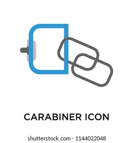 Carabiner icon vector isolated on white background for your web and mobile app design, Carabiner logo concept