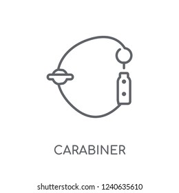 Carabiner linear icon. Modern outline Carabiner logo concept on white background from camping collection. Suitable for use on web apps, mobile apps and print media.