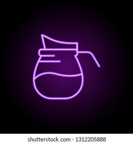 carafe of juice icon. Elements of Food and drink in neon style icons. Simple icon for websites, web design, mobile app, info graphics