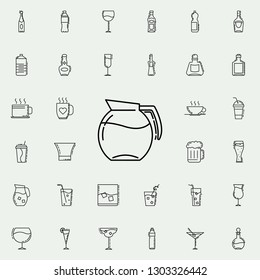 carafe of water dusk icon. Drinks & Beverages icons universal set for web and mobile
