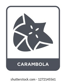 carambola icon vector on white background, carambola trendy filled icons from Fruits and vegetables collection, carambola simple element illustration