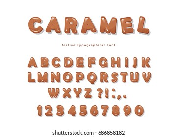 Caramel font design.