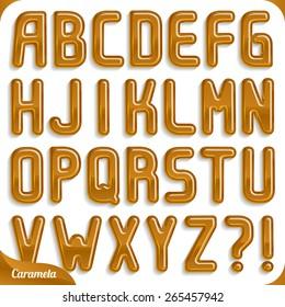 Caramel font, part 1/2 Alphabet