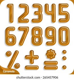 Caramel font, part 2/2 Numbers