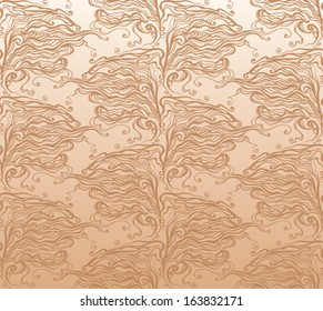 Caramel seamless pattern.