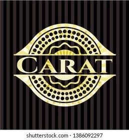 Carat golden emblem or badge. Vector Illustration. Detailed.