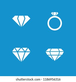Carat icon. collection of 4 carat filled icons such as gem, diamond. editable carat icons for web and mobile.