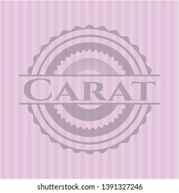 Carat retro style pink emblem. Vector Illustration. Detailed.