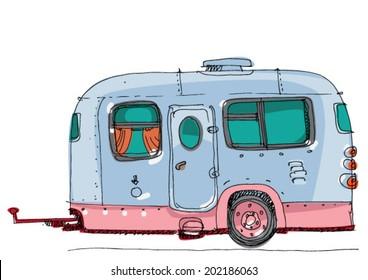 caravan - cartoon