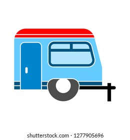 caravan icon- caravan car isolated, vehicle illustration - Vector caravan