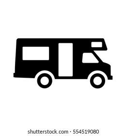 Caravan icon. Motor Home