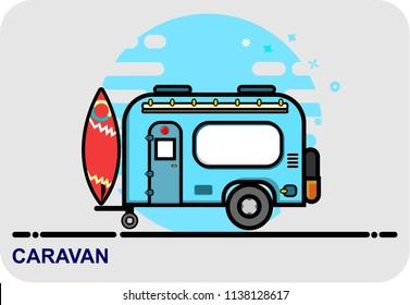caravan, icon vector