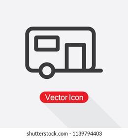 Caravan Icon Vector Illustration Eps10