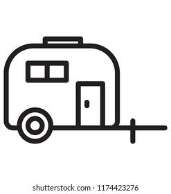 Caravan Isolated Vector Icon use for Travel and Tour Projects